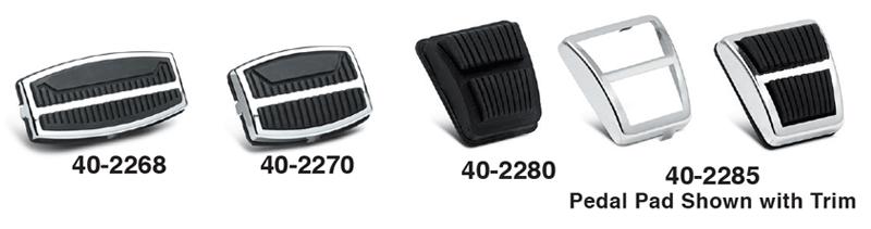 Brake, Clutch, Parking Brake Pedal Pads and Trim