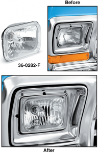 Rectangular Single Headlight