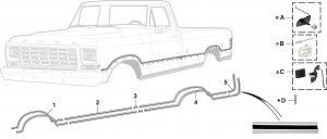 Lower Race Track Style Molding