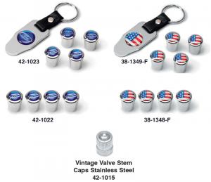 Logo Valve Stem Cap Sets