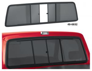 Sliding Rear Windows ... Easy Single Hand Access
