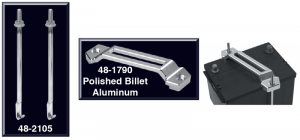 Billet Battery Hold-Down and Stainless J-Bolt Set