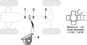Universal Joints - 2 Wheel Drive