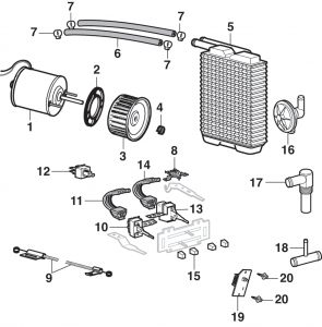 Heater Components - Fresh Air Type