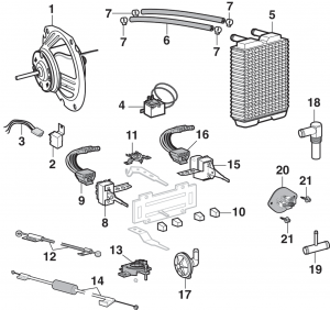 Heater Components with Factory A/C