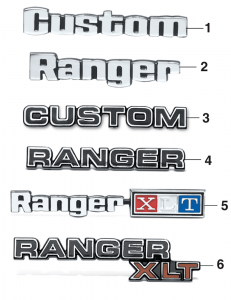 Glove Box Emblems