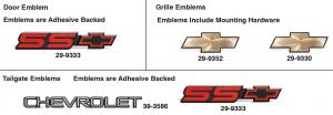 Emblems for Chevrolet