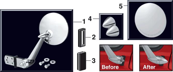 Chrome Reproduction Door Mirror