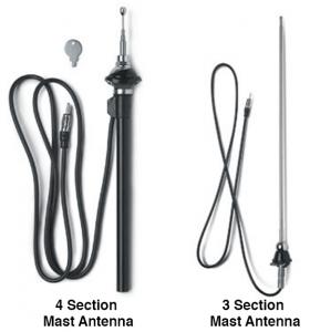 Universal Stainless Steel Mast Antennas