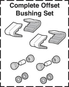 Polyurethane Complete Offset Bushing Set