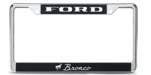 License Plate Frame with Logo