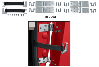 Polished Stainless Steel Removable Door Hinge Set