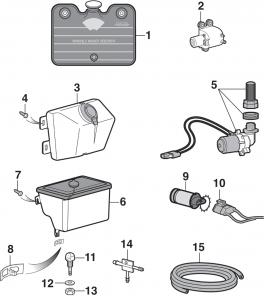 Wiper Reservoir Components