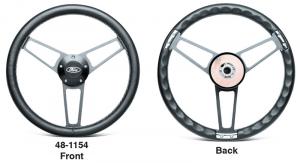 Premium Leather Wrapped Billet Steering Wheel