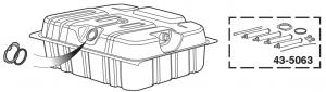 38 Gallon Extra Capacity Rear-Mount Gas Tank