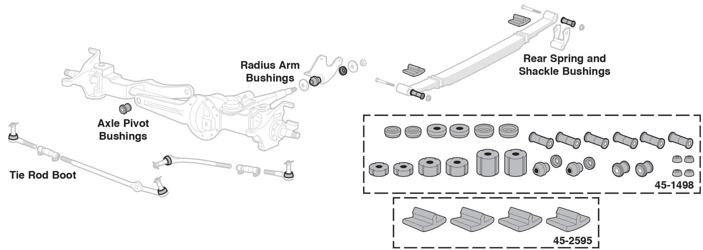 Performance Polyurethane Bushing Set - 4 Wheel Drive