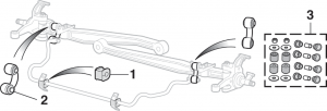 Front Sway Bar Components - 2 Wheel Drive