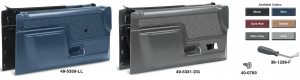 Door Panel Sets with Cloth Inserts