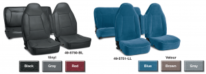 Original Style Vinyl and Velour Seat Reupholstery Kits