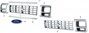 Reproduction Grilles andHeadlight Bezels