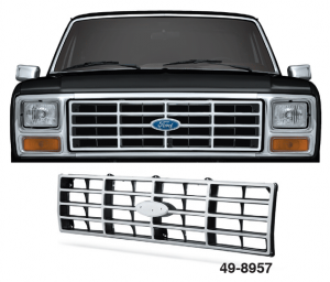 Radiant Chrome Finish Grille