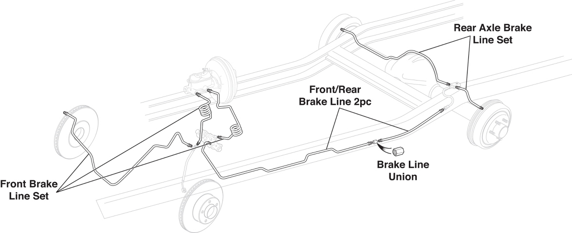 Pre-Bent Stainless Steel Brake Line Sets