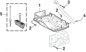 Battery Tray and Components