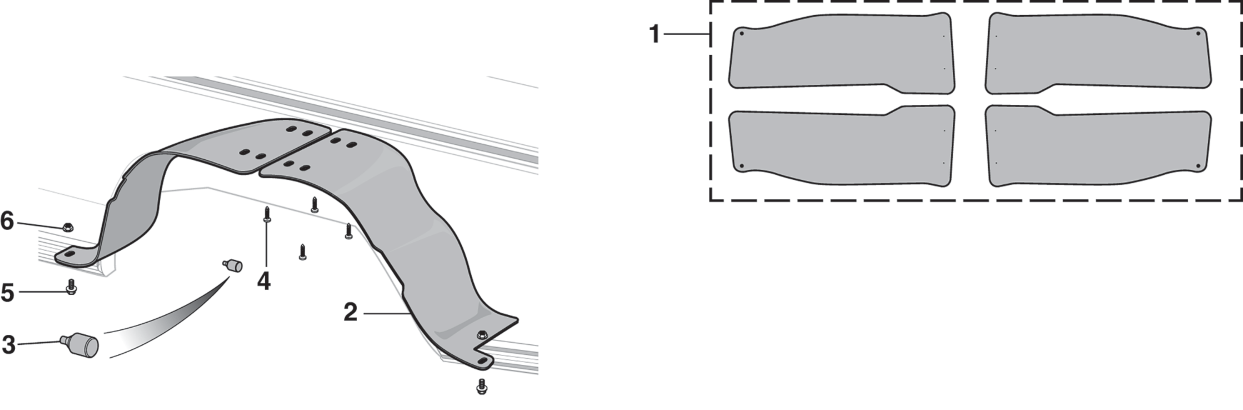 Rear Splash Shield and Components