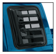 Slotted Cab Window Cover Set