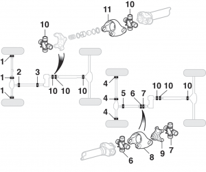 Universal Joints and Yokes - 4WD