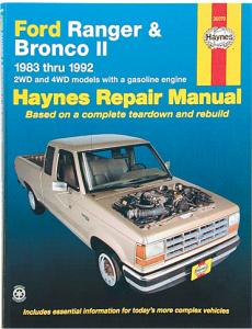 Haynes Manual Ford Ranger 1983-11 & Bronco II 1984-90