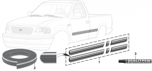 Pre-Cut Body Side Molding Sets and Body Side Molding