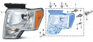Combination Headlight Assembly - Without H.I.D. Option