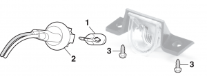 Rear License Lamp Components