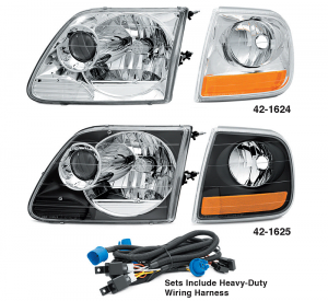 2 Piece Projector Headlight and Parklight Sets