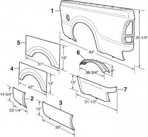 Bed Panels - With Single Rear Wheel