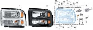 Combination Headlight Assembly