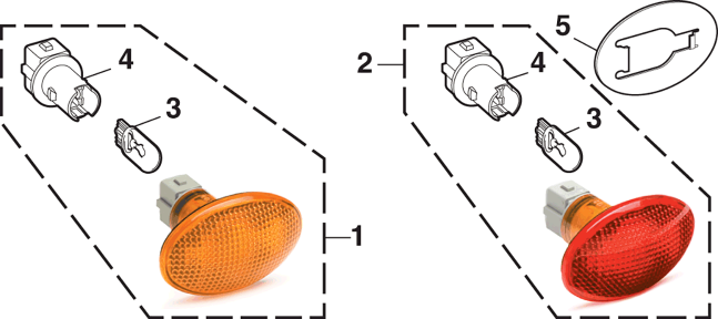 Fender Marker Light and Components