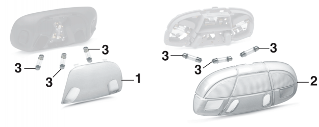 Dome / Map Light Components