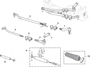 Steering Components - Mono Beam