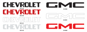 Tailgate Letter Sets Decals