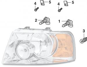 Combination Headlight Components