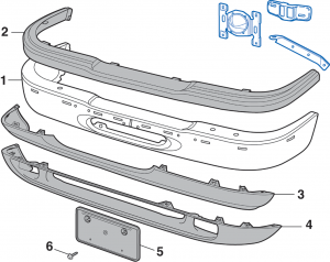 Front Bumper - Models without Limited Package