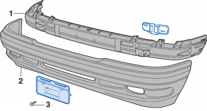 Front Bumper - Models with Limited Package