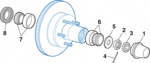 Front Wheel Bearing - 2 Wheel Drive