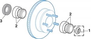 Front Wheel Bearing - 4 Wheel Drive