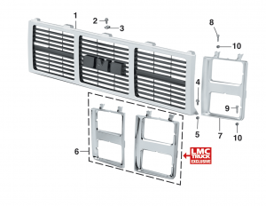 Grille Components - Dual Headlights