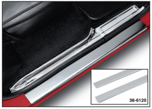1973-91 Stainless Steel Front Threshold Plate Set - Plain