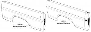 Styleside Premium Shortbed Bedsides