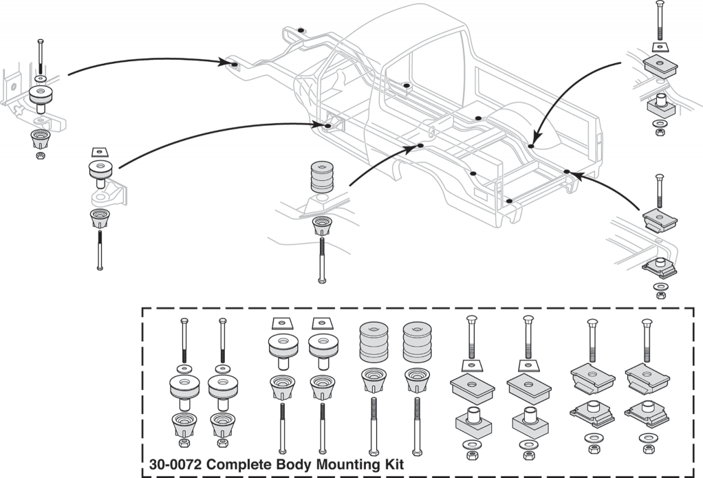 Complete Body Mounting Kits